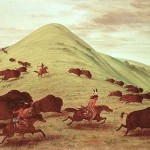 "George Catlin, ""Sioux Hunting Buffalo"" (1835)"