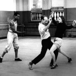 Arthur Mitchell, Balanchine & Farrell rehearsing Slaughter on Tenth Avenue