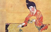 Woman playing weiqi (c. 722) - Painting on silk, Astana graves, Xinjiang
