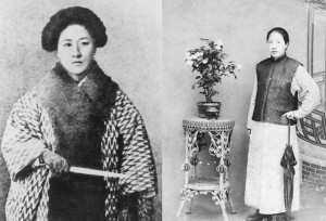 Qiu Jin, dressed in a Japanese style & as a man